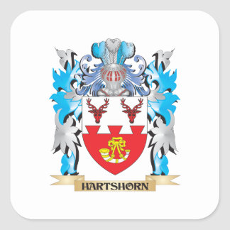 Hartshorn Coat of Arms - Family Crest Square Sticker