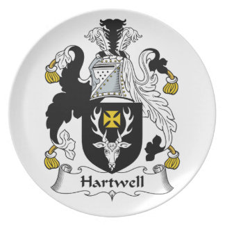Hartwell Family Crest Plate