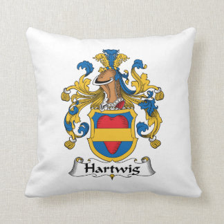 Hartwig Family Crest Throw Pillow