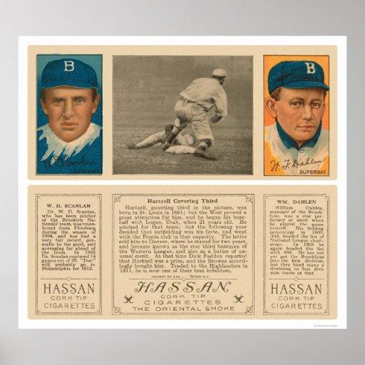 Hartzell Yankees Superbas Baseball 1912 Poster