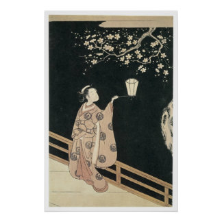 Harunobu Plum Blossom 1760 Art Prints Poster
