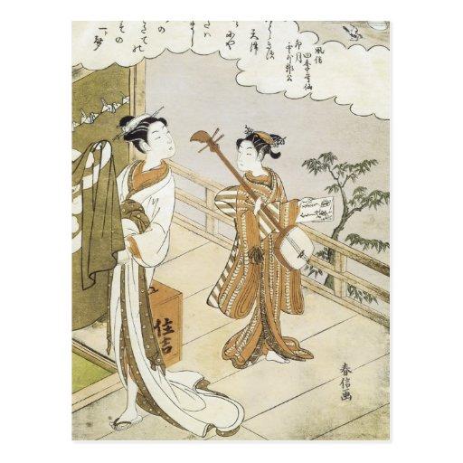 Harunobu Tarjetas Postales