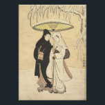 "Harunobu's Lovers in Snow (large size) Poster<br><div class=""desc"">Harunobu"