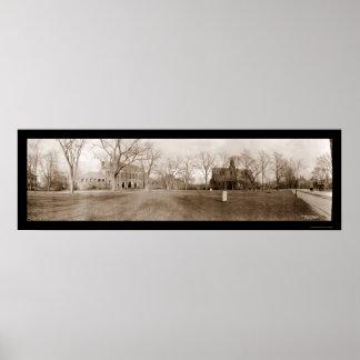 Harvard Cambridge, foto 1910 del mA Póster