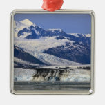 Harvard Glacier in College Fjord, Alaska 2 Square Metal Christmas Ornament