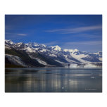 Harvard Glacier in College Fjord, Alaska Poster