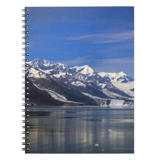Harvard Glacier in College Fjord, Alaska Spiral Notebook