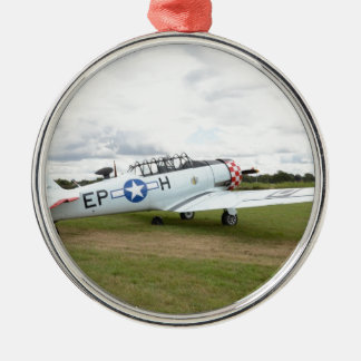 Harvard Trainer Round Metal Christmas Ornament
