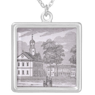 Harvard University, from 'Historical Square Pendant Necklace