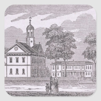 Harvard University, from 'Historical Square Stickers