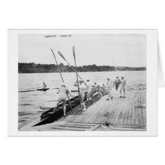 Harvard University Rowing Crew Team Photograph Card