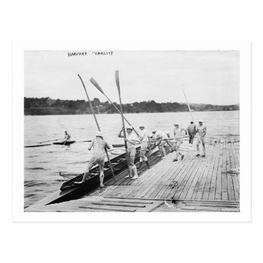 Harvard University Rowing Crew Team Photograph Post Cards