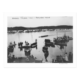 Harvard vs. Yale Rowing Crew Race Photograph Postcard
