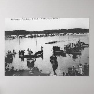 Harvard vs. Yale Rowing Crew Race Photograph Poster