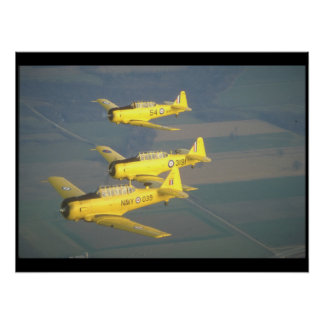 Harvards. (sky;harvards_Military Aircraft Poster
