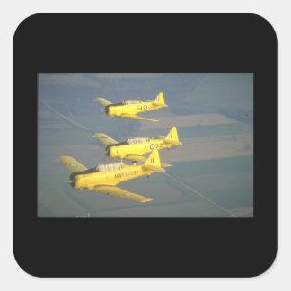 Harvards. (sky;harvards_Military Aircraft Square Sticker