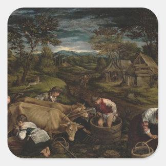 Harvest, , 1576 square sticker