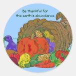 harvest abundance classic round sticker