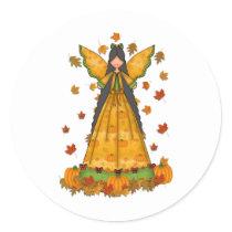 harvest angel classic round sticker