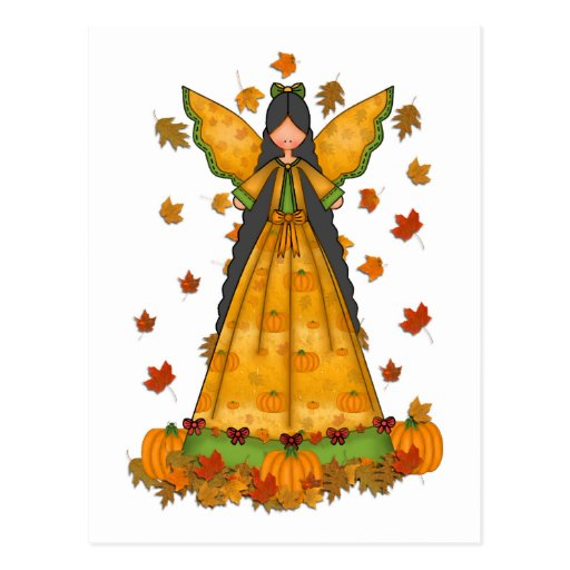 Harvest Angel Thanksgiving Postcard