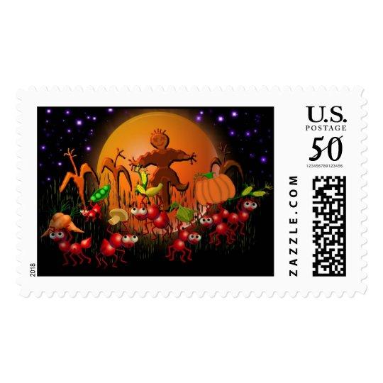harvest ants postage