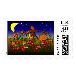 harvest ants postage stamp