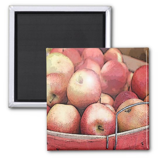 harvest apples 2 inch square magnet