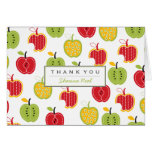 Harvest Apples Pattern Thank You Note Card