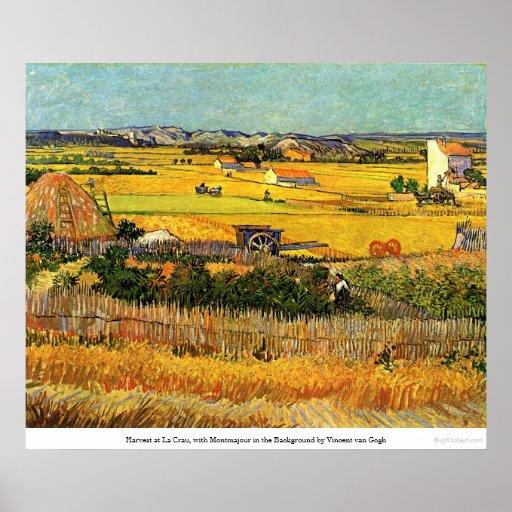 Harvest at La Crau - van Gogh Poster