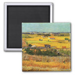 Harvest at La Crau - van Gogh Refrigerator Magnet