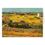 Harvest at La Crau - van Gogh Stationery Note Card