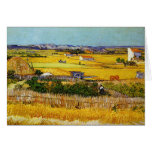 Harvest at La Crau, Vincent Van Gogh Greeting Cards