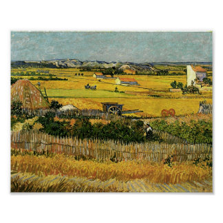 Harvest at La Crau, Vincent Van Gogh Poster