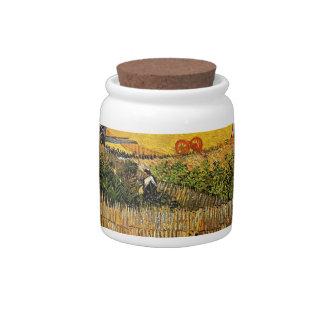 Harvest at La Crau with Montmajour Candy Jar