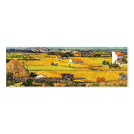 Harvest at La Crau, with Montmajour in the Backgro Business Card Template