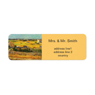 Harvest at La Crau, with Montmajour in the Backgro Return Address Labels