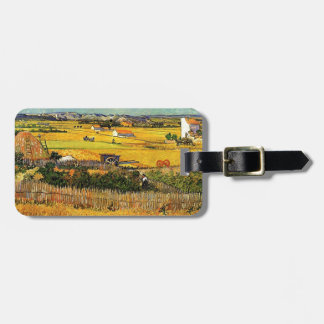 Harvest at La Crau, with Montmajour... Luggage Tag