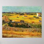 Harvest at La Crau, with Montmajour... Poster
