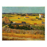 Harvest at La Crau, with Montmajour... Posters