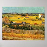 Harvest at La Crau, with Montmajour... Posters