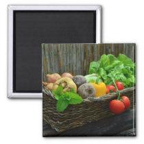 Harvest  Basket Garden Salad Magnet