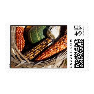 Harvest Basket Postage Stamp