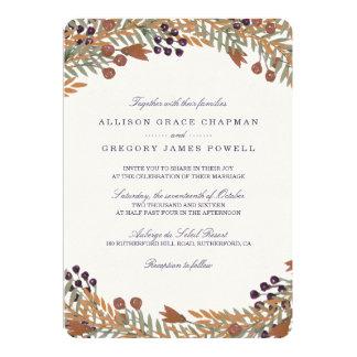 Harvest Berry Wedding Card