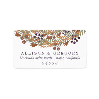 Harvest Berry Wreath Return Label