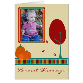 Harvest Blessings Photo Greeting Card