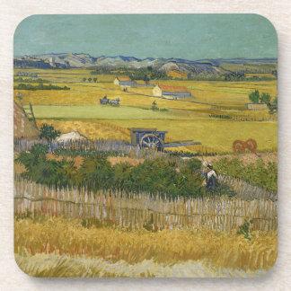 Harvest by Vincent Van Gogh Coaster