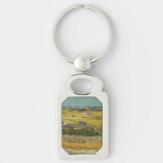 Harvest by Vincent Van Gogh Key Chains