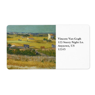 Harvest by Vincent Van Gogh Shipping Labels