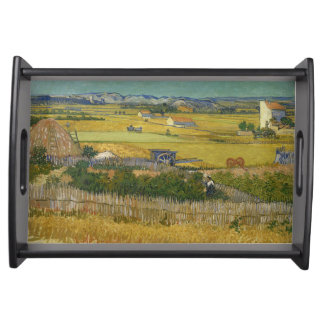 Harvest by Vincent Van Gogh Serving Platters