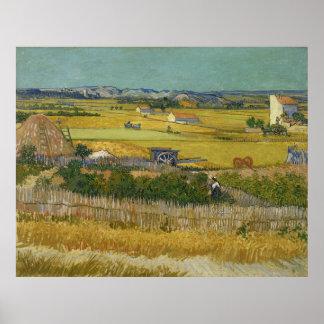 Harvest by Vincent Van Gogh Print